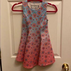 Little girl's Marvel Captain America dress
